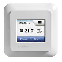 Instamat Sanitherm P03 thermostaat voor vloerverwarming met vloersensor en touch screen frame Busch Jaeger