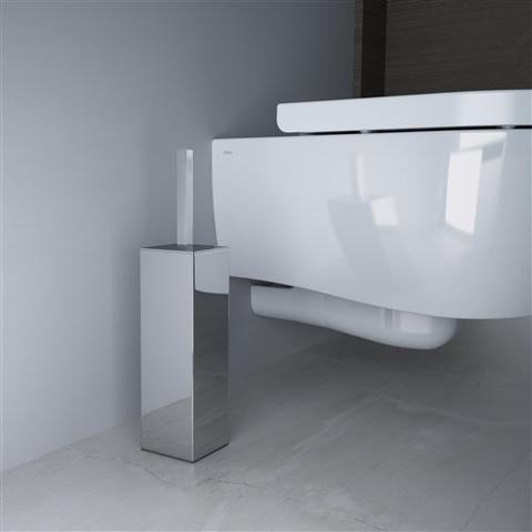 Clou Quadria toiletborstelgarnituur staand chroom
