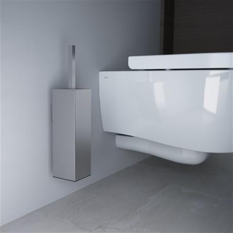 Clou Quadria toiletborstelgarnituur wand RVS geborsteld
