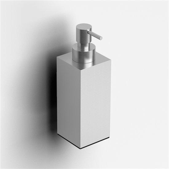 Clou Quadria zeepdispenser wand RVS geborsteld