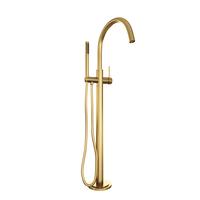 Brauer Gold Edition vrijstaande badmengkraan met staaf handdouche geborsteld goud PVD