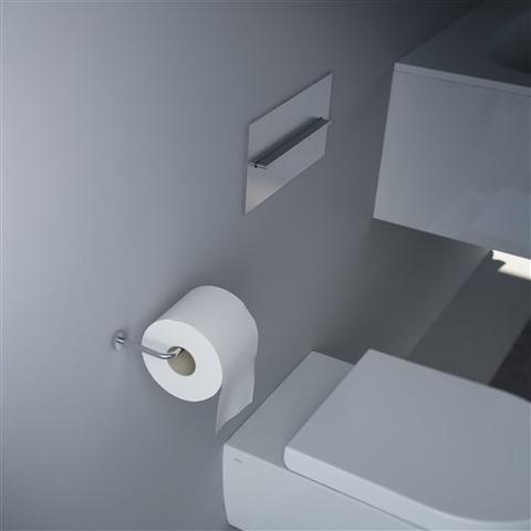 Clou Slim toiletrolhouder zonder klep RVS geborsteld
