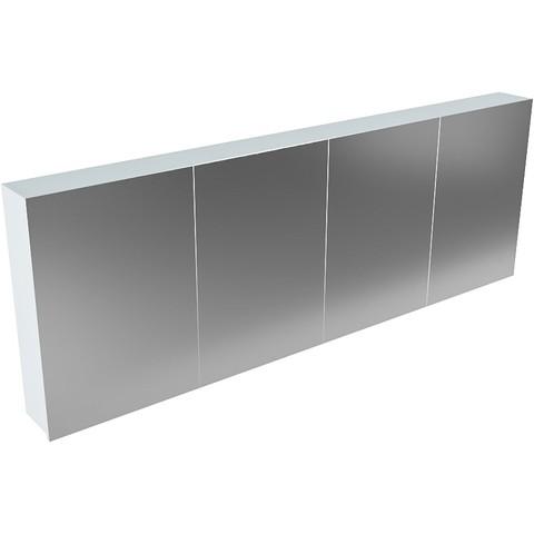 Mondiaz Cubb spiegelkast 200x70x16cm met 4 deuren - Clay