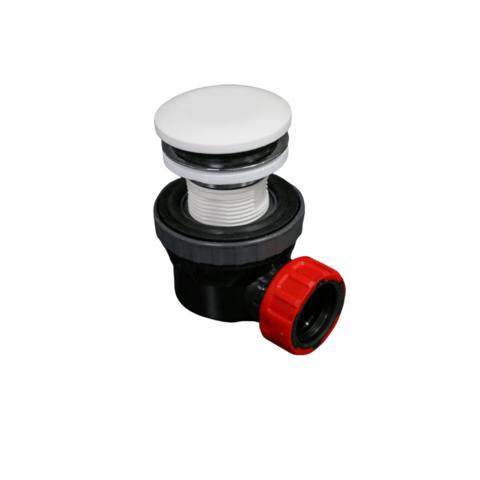 Mondiaz Easy klikplug met sifon ruimtebesparend Solid Surface - Talc