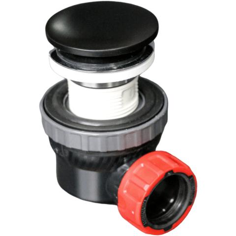 Mondiaz Easy klikplug met sifon ruimtebesparend Solid Surface - Black