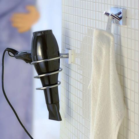 Smedbo House houder voor haardroger mat chroom