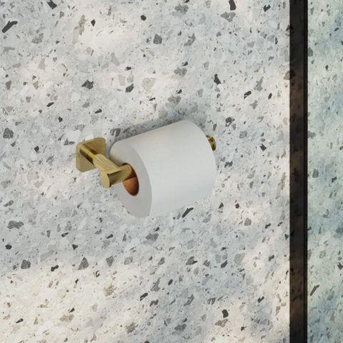 Hotbath Gal GLA04BGP toiletrolhouder - Geborsteld gunmetal PVD