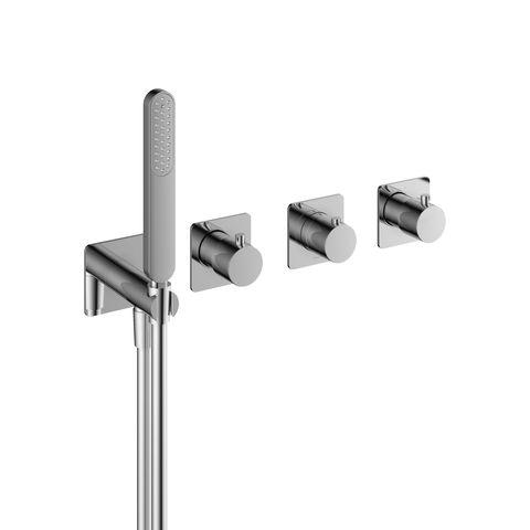 Hotbath Gal GL7071 inbouw thermostaat met 2 stopkranen en handdouche chroom
