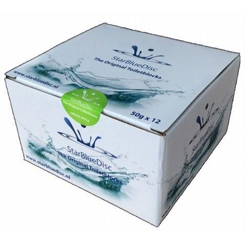 Starbluedisc geurblokjes voor toiletblokhouder halfjaarverpakking (12 stuks) groen