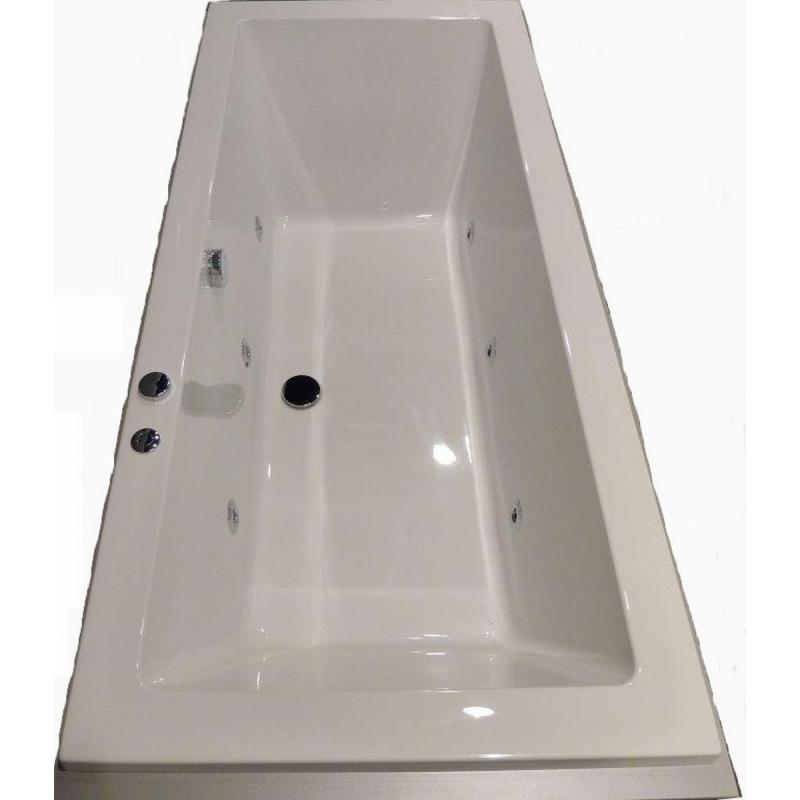 Blinq Duco whirlpool bad 180x80 cm waterinjectie 6 jets