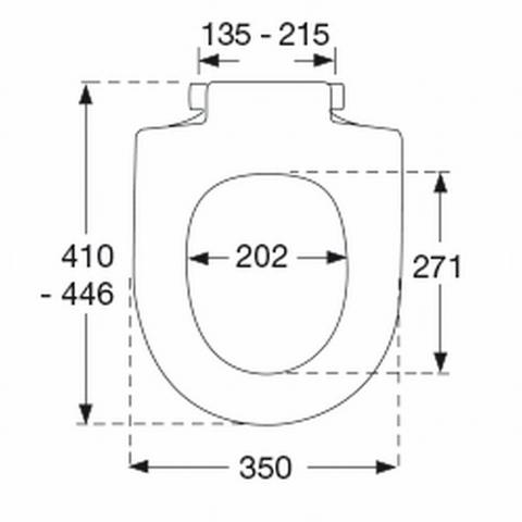 Pressalit 345 toiletzitting met Softclosing wit