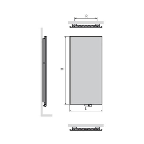 Vasco Niva NS1L1 paneelradiator type 11 - 182 x 74 cm (H x L) wit s600