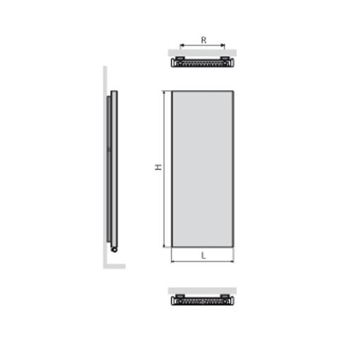 Vasco Niva NS2L1 paneelradiator type 21 - 122 x 44 cm (H x L) antraciet m301
