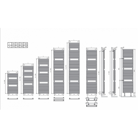 Vasco Aster HF designradiator 145 x 60 cm (H x L)  zwart m300