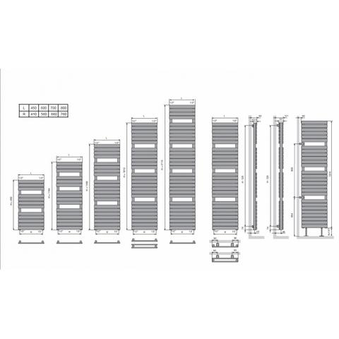 Vasco Aster HF designradiator 181 x 45 cm (H x L)  zwart m300