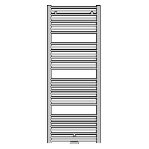Vasco Malva BSM-S designradiator 168,9 x 50 cm (H x L) wit ral 9016