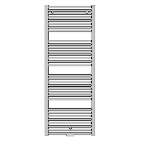 Vasco Malva BSRM-S designradiator 133,8 x 60 cm (H x L) wit ral 9016