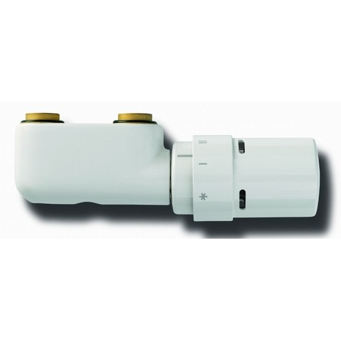 Vasco  design ventilatieset haaks thermostaatknop wit ral 9016
