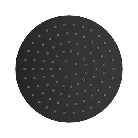 Wiesbaden Caral messing hoofddouche 20cm - rond - mat zwart