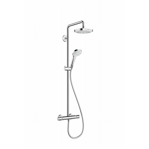 Hansgrohe Croma Select E 180 2jet showerpipe wit-chroom