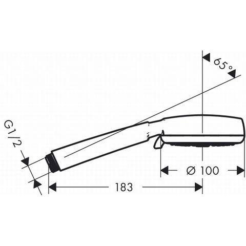 Hansgrohe Crometta 100 1jet handdouche wit-chroom