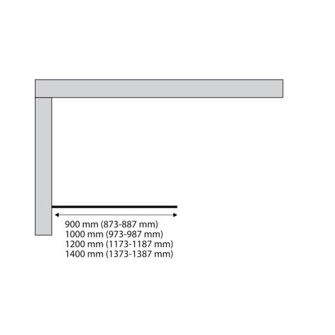 Sealskin Soho inloopdouche type A3 140cm mat zwart raster