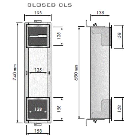 Looox Closed inbouw closetrolhouder met reserverolhouder 5 rol rvs geborsteld