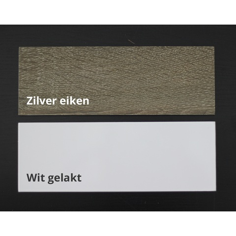 Blinq Tania hoge kast 170 cm met 2 deuren links/rechts zilver eiken
