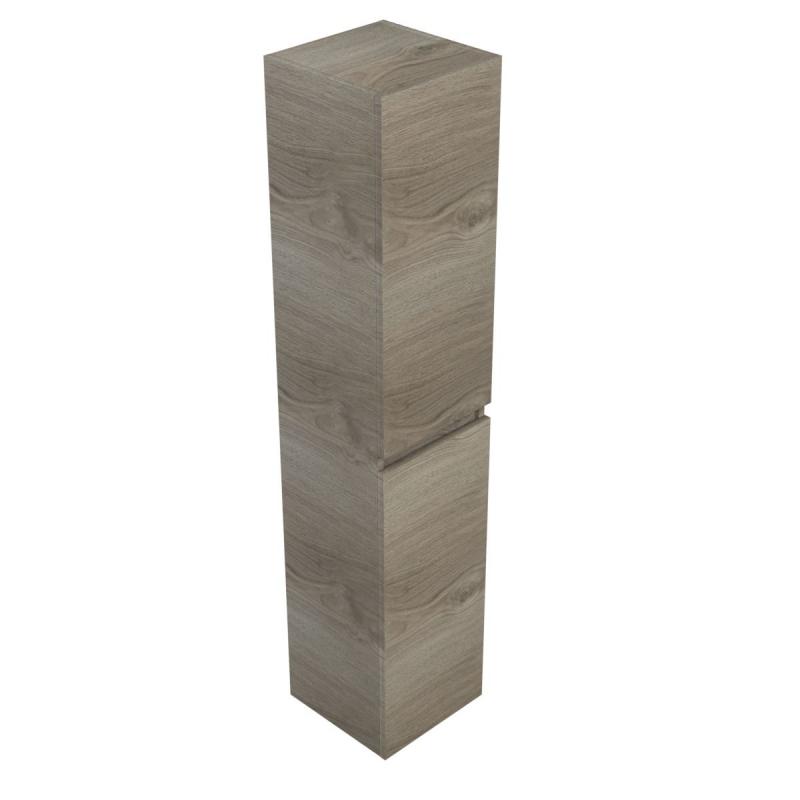 Blinq Tania Hoge Kast 170 Cm Met 2 Deuren Linksrechts Zilver Eiken
