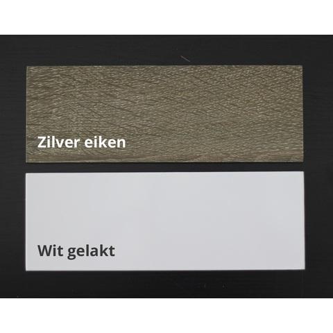 Blinq Tania badmeubel 80cm 2 lades  zilver eiken