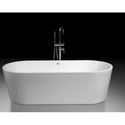 Blinq Fresno bad vrijstaand 180x80cm met badwaste en onderstel wit