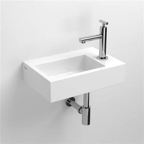 Clou Flush 2 fontein met kraangat en plug, wit keramiek