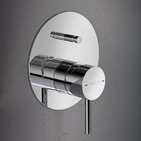 Hotbath Buddy 032 inbouw mengkraan met omstelknop geborsteld nikkel