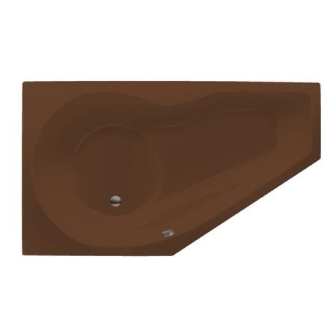 Xenz Fiji bad 160x90cm links asymmetrisch met douchegedeelte Klei