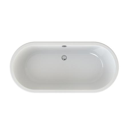 Xenz Noa vrijstaand bad 170x80cm mat wit