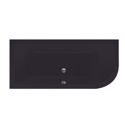 Xenz Principe bad 180x80cm met 1 ronde hoek, uitvoering links Antraciet