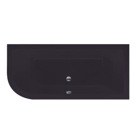 Xenz Principe bad 180x80cm met 1 ronde hoek, uitvoering rechts Antraciet