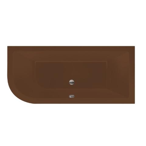 Xenz Principe bad 180x80cm met 1 ronde hoek, uitvoering rechts Klei