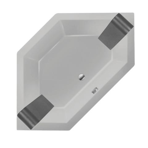 Xenz Society 145 zeshoekig hoekbad 145x145cm Cement