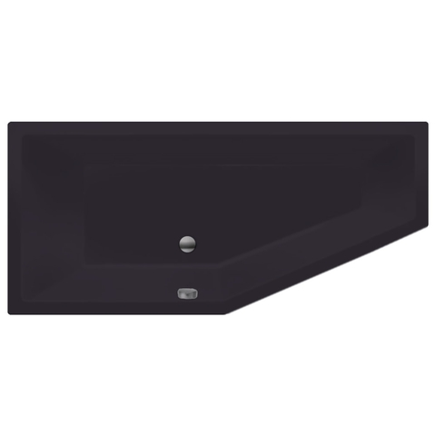 Xenz Society Compact bad 180x80cm links Antraciet