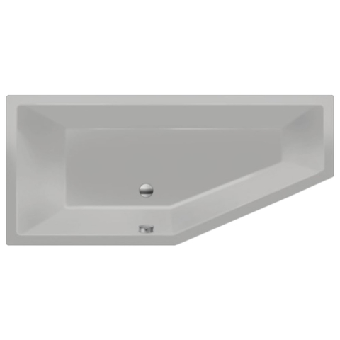 Xenz Society Compact bad 180x80cm links Cement