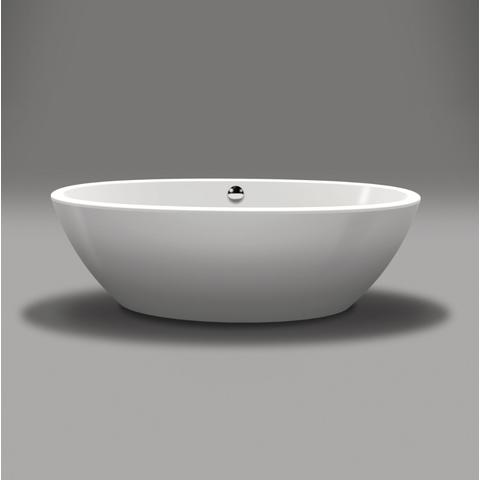 Xenz Britt XS 170x85x60 wit met zichtdelen in chroom