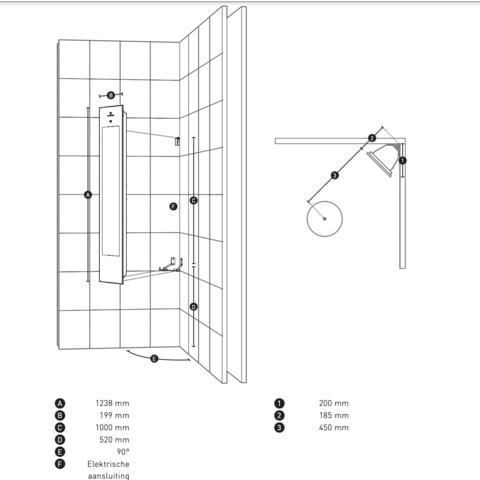 Sunshower Solo - opbouw hoekmodel - Full Body - White