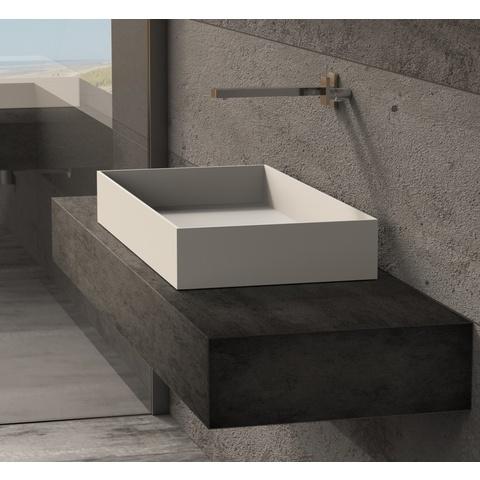 Ideavit Solidjoy-75 opzetwastafel 75x37,5 cm mat wit