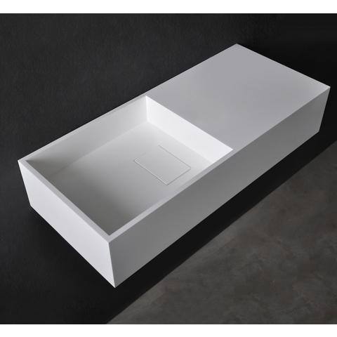 Ideavit Solidplan-75 wastafel 75x32,5 cm mat wit met plateau