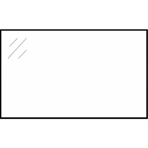 Bewonen Luuk zijpanelen voor spiegelkast - hoogglans wit