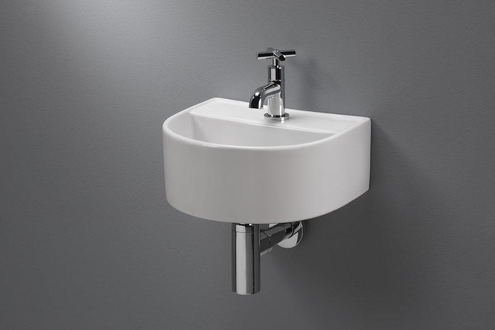 Blinq Onega fontein 32x28,5x13 cm. halfrond wit