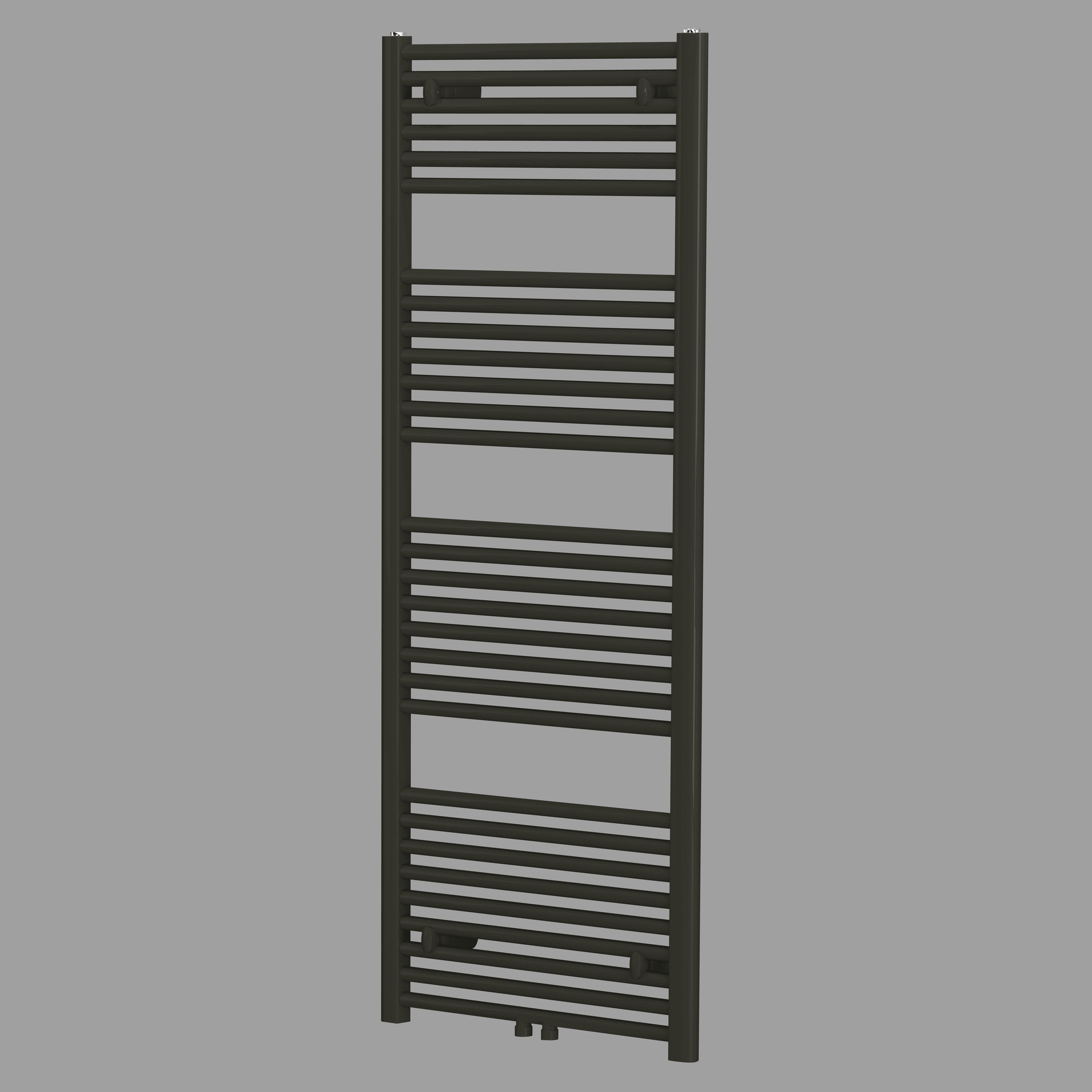 Blinq Altare R handdoekdesignradiator 180 x 60 cm (H X L) mat zwart