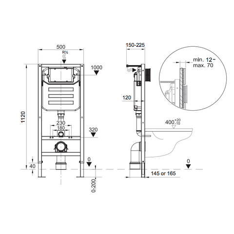 Blinq Chelmer basic inbouw reservoir 12cm