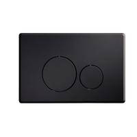 Blinq Chelmer bedieningsplaat ronde knoppen mat zwart